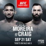 Видео боя Пол Крэйг — Винисиус Морейра UFC on ESPN+ 17