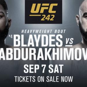 Видео боя Шамиль Абдурахимов — Кертис Блэйдс UFC 242