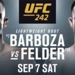 Видео боя Эдсон Барбоза — Пол Фелдер UFC 242