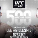 Видео боя Грегор Гиллеспи — Кевин Ли UFC 244