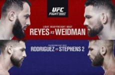 Ставки на UFC on ESPN 6: Коэффициенты букмекеров на турнир Крис Вайдман — Доминик Рейес