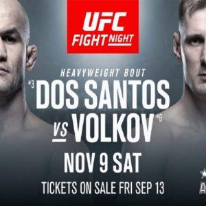 В UFC отреагировали на отмену боя Волков — Дос Сантос на турнире в Москве