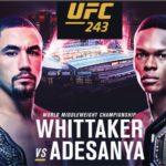 Прямой эфир UFC 243: Роберт Уиттакер – Исраэль Адесанья. Смотреть онлайн