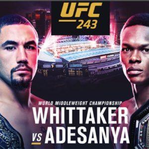 Прямая трансляция UFC 243: Роберт Уиттакер – Исраэль Адесанья