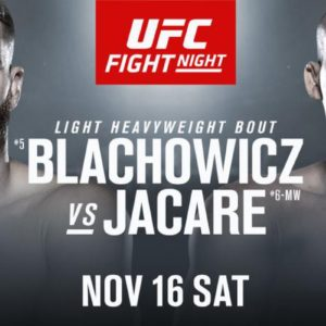 Файткард турнира UFC Fight Night 164