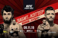 Прямая трансляция UFC Fight Night 163: Забит Магомедшарипов — Келвин Каттар, Грег Харди — Александр Волков