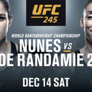 Видео боя Аманда Нуньес — Жермейн Де Рандами UFC 245