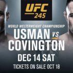 Видео боя Камару Усман — Колби Ковингтон UFC 245
