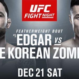 Видео боя Фрэнки Эдгар — «Корейский зомби» UFC Fight Night 165