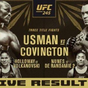 Результаты турнира UFC 245