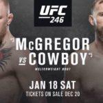Видео боя Конор МакГрегор – Дональд Серроне UFC 246