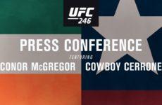 Прямая трансляция пресс-конференции UFC 246: Конор МакГрегор — Дональд Серроне