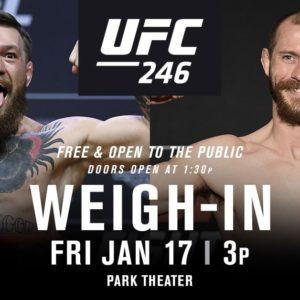Прямой эфир взвешивания UFC 246: Конор МакГрегор — Дональд Серроне. Смотреть онлайн