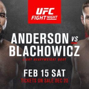 Видео боя Кори Андерсон — Ян Блахович 2 UFC Fight Night 167