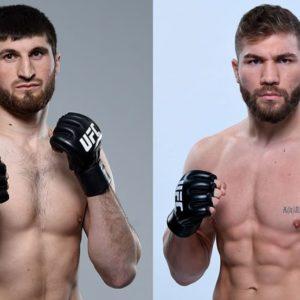 Видео боя Магомед Анкалаев — Ион Куцелаба UFC Fight Night 169