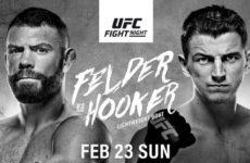 Прямой эфир UFC Fight Night 168: Пол Фелдер — Дэн Хукер, Кевин Агилар — Зубайра Тухугов. Смотреть онлайн