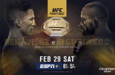 Прямой эфир UFC Fight Night 169: Джозеф Бенавидес — Дейвисон Фигейреду. Смотреть онлайн
