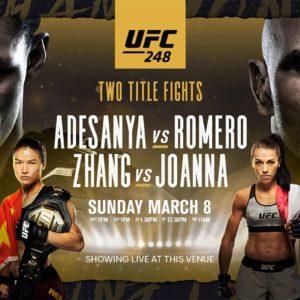 Прямая трансляция UFC 248: Исраэль Адесанья — Йоэль Ромеро