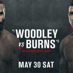 Видео боя Тайрон Вудли — Гилберт Бернс UFC on ESPN 9