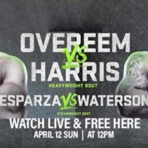 Прямая трансляция UFC Fight Night 172: Алистар Оверим – Уолт Харрис