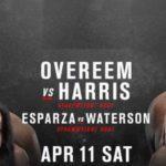 Прямой эфир UFC Fight Night 172: Алистар Оверим – Уолт Харрис. Смотреть онлайн