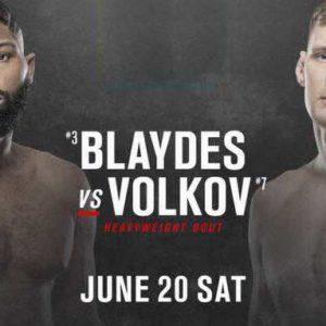 Видео боя Александр Волков — Кертис Блэйдс UFC on ESPN 11