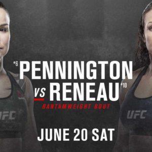 Видео боя Ракель Пеннингтон — Марион Рено UFC on ESPN 11