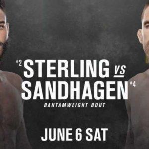 Видео боя Кори Сандхаген — Алджамейн Стерлинг UFC 250
