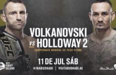Видео боя Алекс Волкановски — Макс Холлоуэй 2 UFC 251