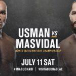 Видео боя Камару Усман — Хорхе Масвидаль UFC 251