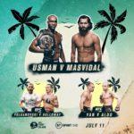 Прямой эфир UFC 251: Камару Усман — Хорхе Масвидаль, Алекс Волкановски — Макс Холлоуэй 2, Петр Ян — Жозе Альдо. Смотреть онлайн