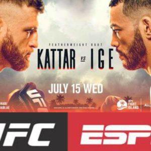 Прямая трансляция UFC on ESPN 13: Келвин Каттар – Дэн Иге