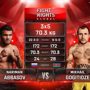 Видео боя Нариман Аббасов — Михаил Гогитидзе 2 Fight Nights Global 98
