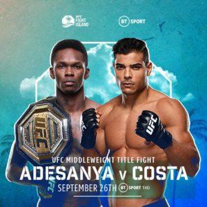 Видео боя Исраэль Адесанья — Пауло Коста UFC 253