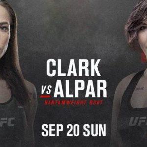 Видео боя Джессика-Роуз Кларк – Сара Алпэр UFC Fight Night 178
