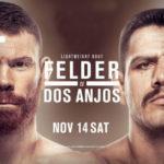 Прямой эфир UFC Fight Night 182: Пол Фелдер — Рафаэль Дос Аньос. Смотреть онлайн