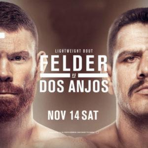 Прямая трансляция UFC Fight Night 182: Пол Фелдер — Рафаэль Дос Аньос