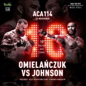 Прямая трансляция ACA 114: Даниель Омельянчук — Тони Джонсон