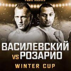Видео боя Вячеслав Василевский — Джонас Розарио AMC Fight Nights Global: Winter Cup