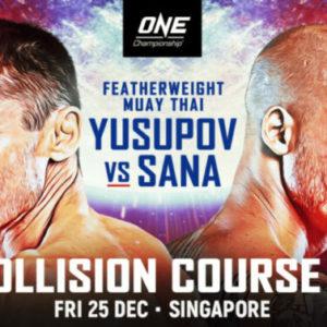 Прямая трансляция ONE Championship: Collision Course 2: Джамал Юсупов – Сэми Сана