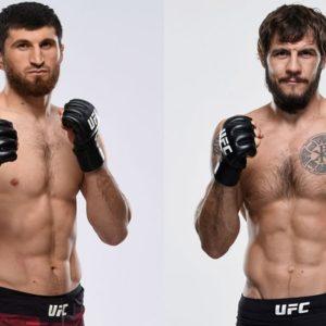 Видео боя Магомед Анкалаев — Никита Крылов UFC Fight Night 186