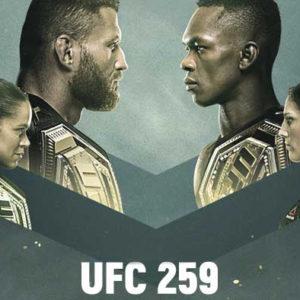 Прямой эфир UFC 259: Ян Блахович — Исраэль Адесанья, Аманда Нуньес — Меган Андерсон, Петр Ян — Алджамейн Стерлинг. Смотреть онлайн