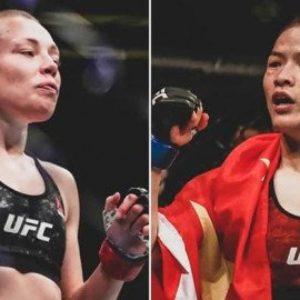 Видео боя Роуз Намаюнас — Вейли Жанг UFC 261