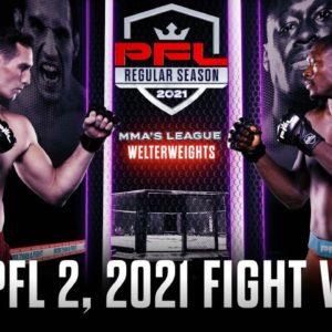 Прямая трансляция PFL 2: 2021 Regular Season: Рори МакДональд – Кертис Миллендер
