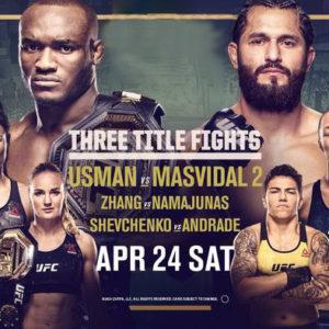 Прямая трансляция UFC 261: Камару Усман — Хорхе Масвидаль 2