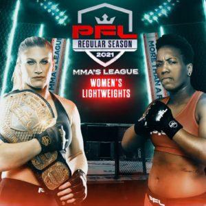 Видео боя Кайла Харрисон – Мариана Мораис PFL 3: 2021 Regular Season