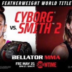 Видео боя Крис Сайборг — Лесли Смит 2 Bellator 259