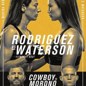 Прямая трансляция UFC on ESPN 24: Мишель Уотерсон — Марина Родригес