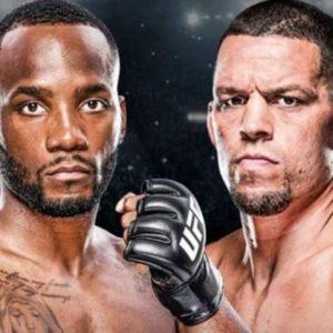 Видео боя Нейт Диас — Леон Эдвардс UFC 263