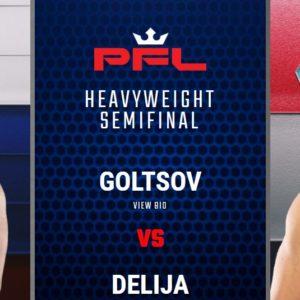 Видео боя Денис Гольцов – Анте Делия PFL 8: 2021 Playoffs